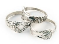 Flatware-style Silver Plated Napkin Rings