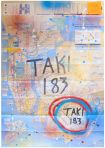 TAKI 183 - Marker & Spray paint on NYC Subway Map 1